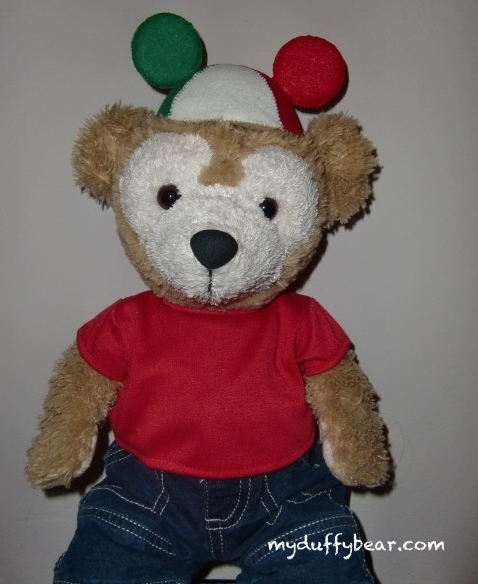 Duffy the Disney Bear wearing his Italian Mickey Ears Hat