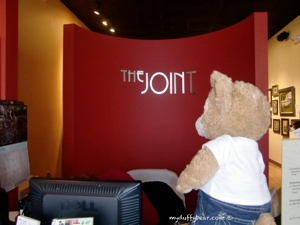 Duffy the Disney Bear checks in at The Joint Chiropractic place