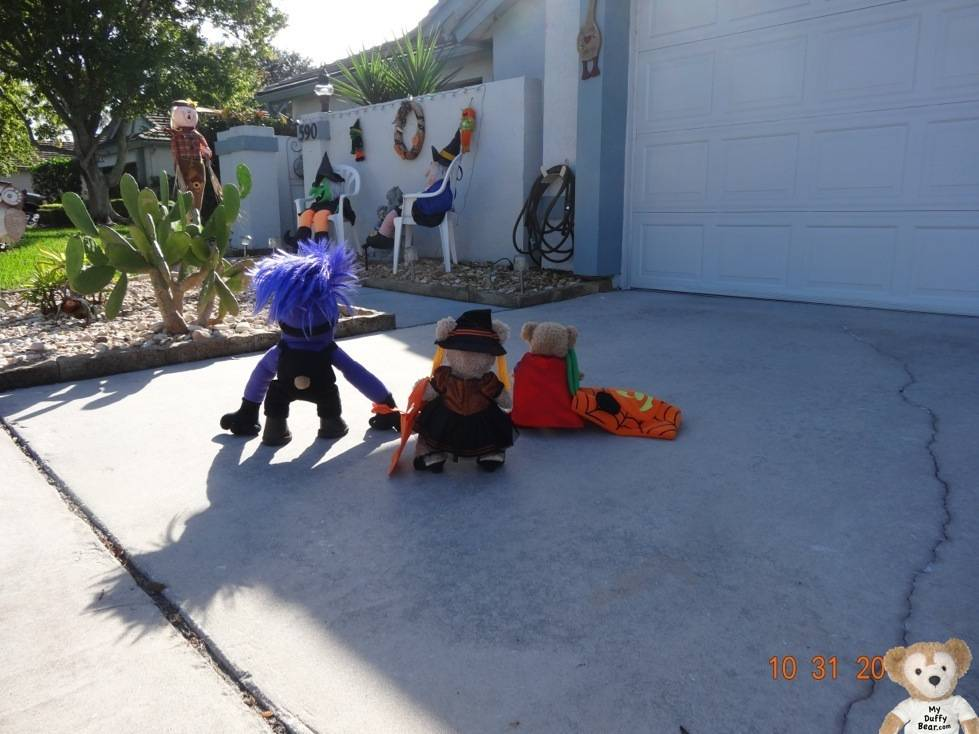 Duffy, ShellieMay and Little Joe are ready to Trick or Treat