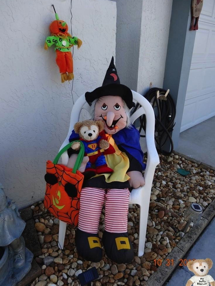 Little Joe chats with the witch about his halloween candy