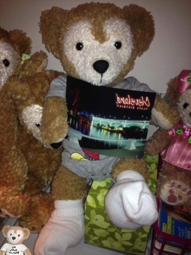 Duffy the Disney Bear gets his first postcard!