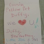 Pillow Pet 'we love you' note
