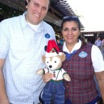 Duffy the Disney Bear with Legacy Award Winners Florence & Tom