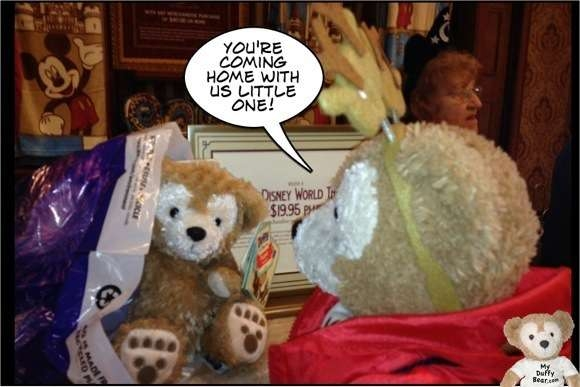Duffy the Disney Bear adopts a Duffy the Disney Bear Puppet