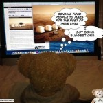 Duffy Disney Bear surfs internet sending Humans to live on Mars