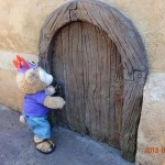 Duffy the Disney Bear finds Secret Door at the Magic Kingdom