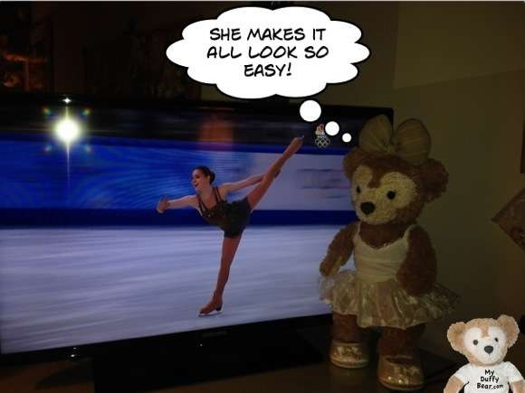 Duffy the Disney Bear Figure Skating Olympics IMG_7006 Comic Life Focus