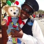 Duffy the Disney Bear with Legacy Award Winner Miss Barbara
