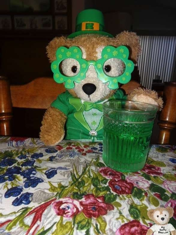 Duffy the Disney Bear Happy St Patrick's Day 2014 Dinner
