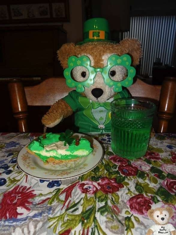 Duffy the Disney Bear Happy St Patrick's Day 2014 Dinner Dessert