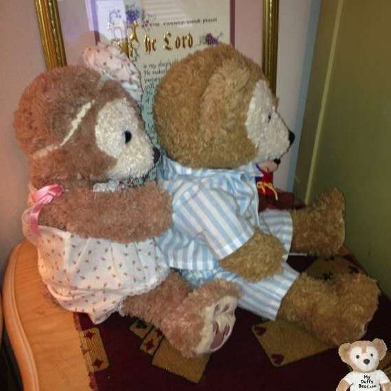 Duffy the Disney Bear gets his back scratched by ShellieMay