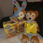 Duffy the Disney Bear gets a visit from the Easter Bunny