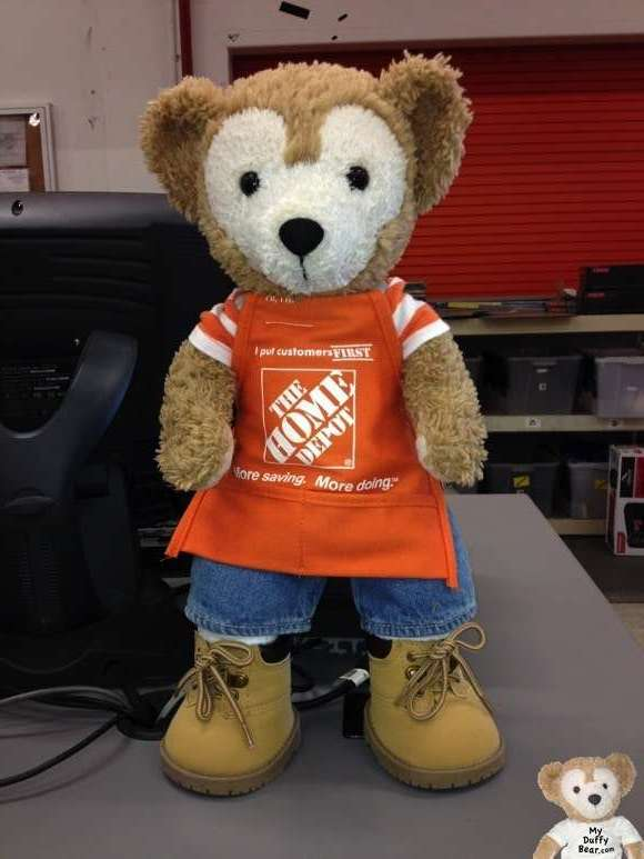 Duffy the Disney Bear Home Depot Sales Associates Aprong