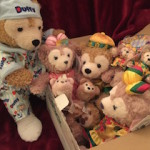 Duffy the Disney Bear with 2015 Chinese New Year presents from Hong Kong Disneyland