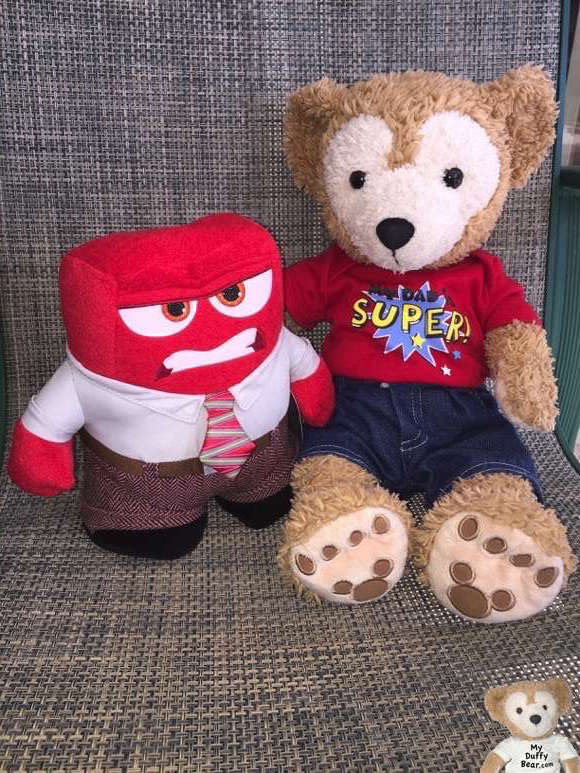 Duffy the Disney Bear with Anger from Disney Pixar's InSide Out
