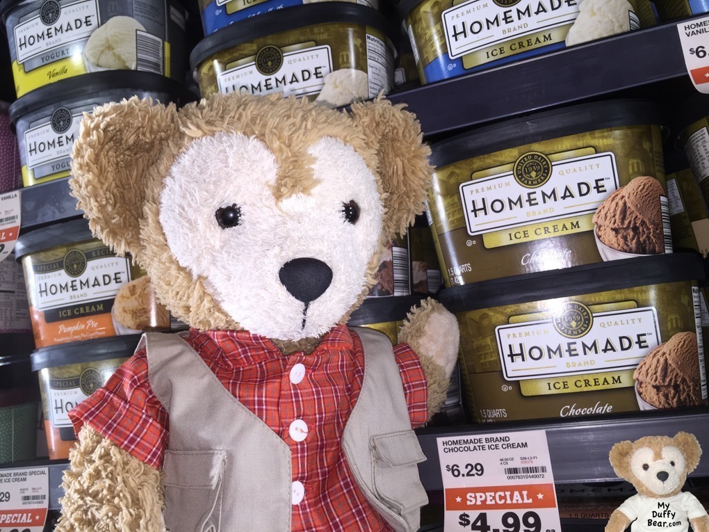 Duffy the Disney Bear spots the Ice Cream at The Fresh Market