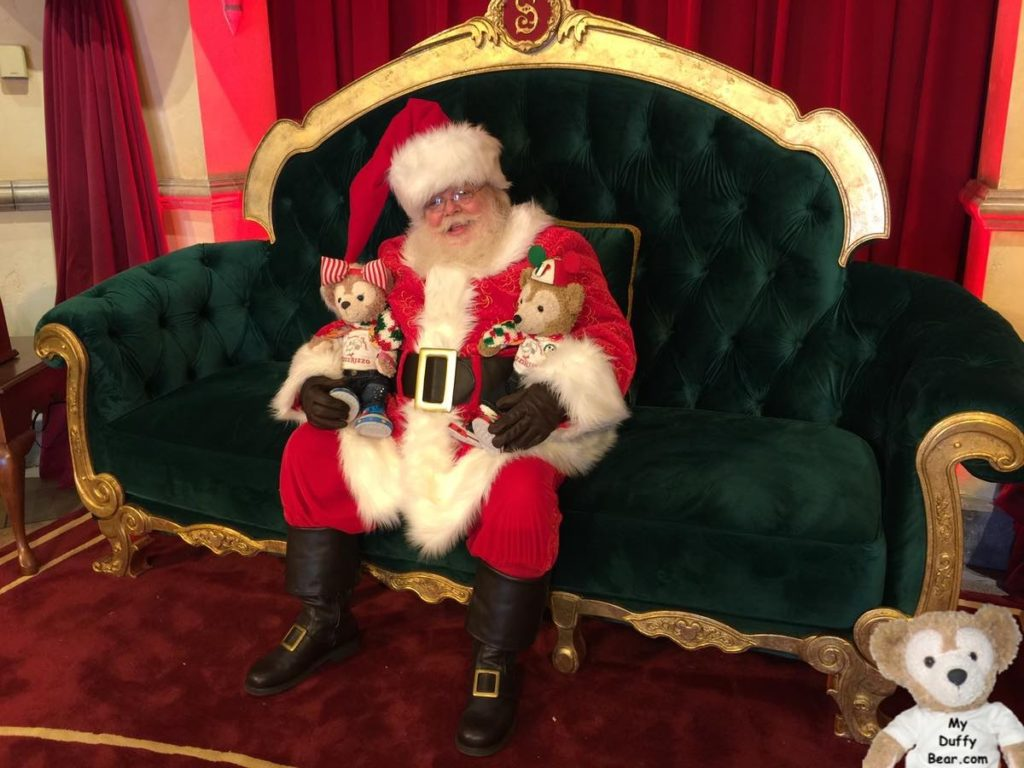 Duffy the Disney Bear and Shelliemay visits Santa Clause at Hollywood Studios