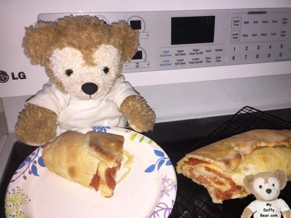 Little Joe tummy growls for his pepperoni bread