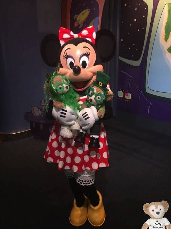 Duffy the Disney Bear at the Character Spot in EPCOT with Minnie Mouse