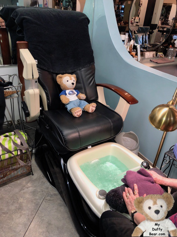 1662 Salon East Pedicure Chair is oversize for Duffy the Disney Bear